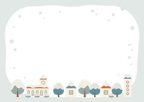 Winter street card