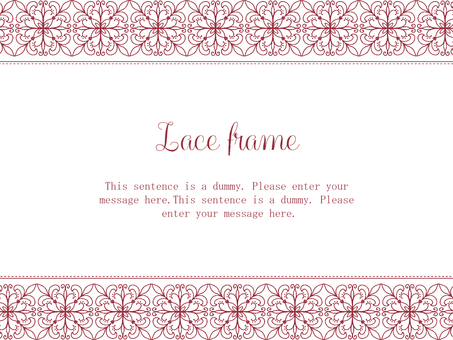 Lace frame 02 / red