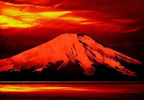 Red Fuji at dusk
