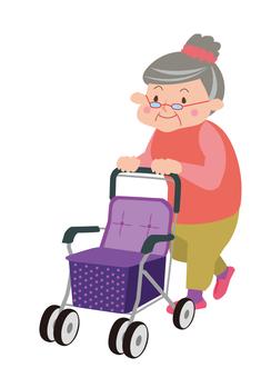 シルバーカーおばあちゃん