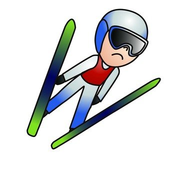 Ski jumping player