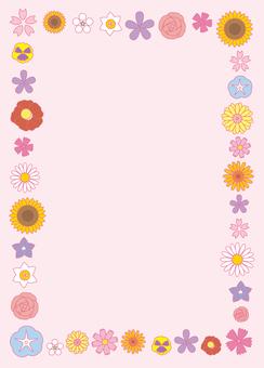 Flower frame 01 Vertical