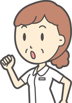 中年女護士白大衣 -  283胸圍