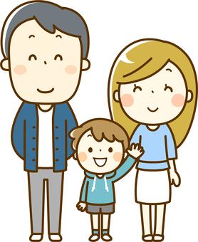 3 인 가족 (부부와 소년)