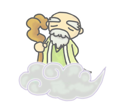 God of a sennin (a quiet expression)