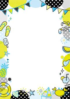 Summer motif frame _ B _ vertical