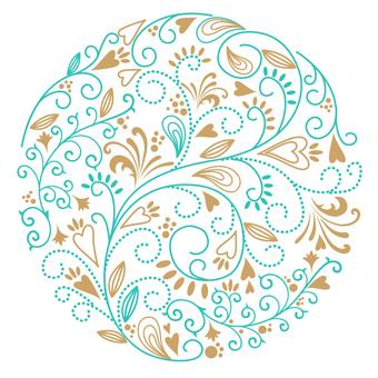 Flower pattern - circle 04