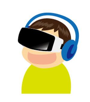 VR boy experiencing _ LG & amp; B