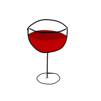 Wineglass and wine