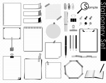 Stationery set_Monochrome ver