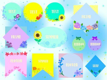 Summer floral frame set