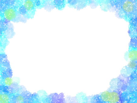 Summerish watercolor frame