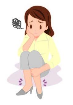 A woman feels swollen with legs