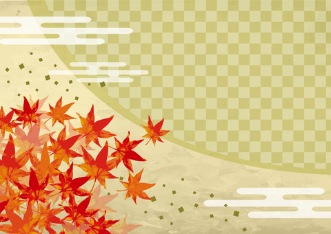 Japanese background of autumn leaves 1