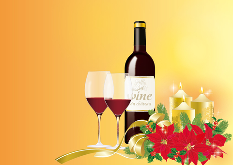 Christmas Arrangement _ Wine
