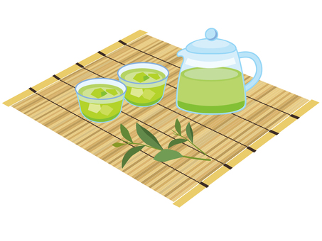 Green tea set _ Ice