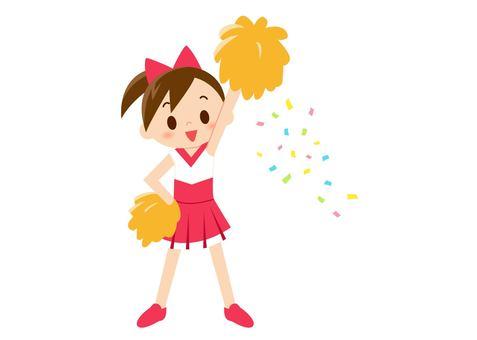 Cheerlead - one hand raised (no wire)