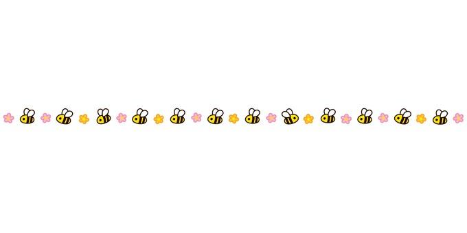 まるっこいハチさんボーダー