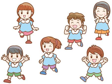 Running child line C