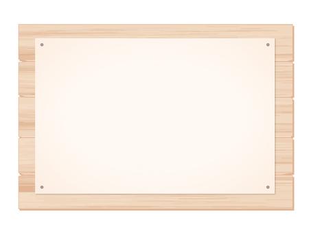 Wood _ signboard 張 り