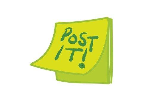 Post it green