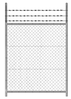 Fence with steel strip