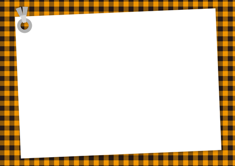Memo tag (Orange × Black Gingham)