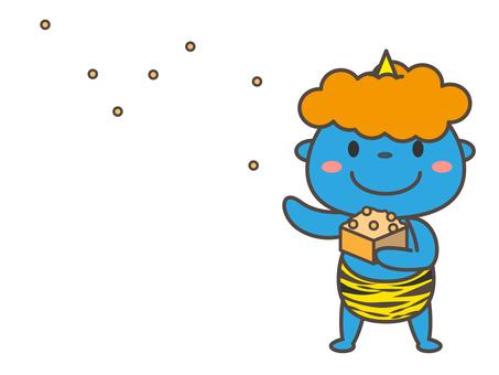 豆Maki食人魔藍色食人魔