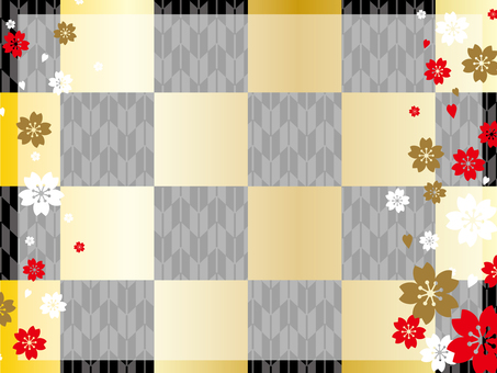 Japanese Pattern Background (Gold · Black)