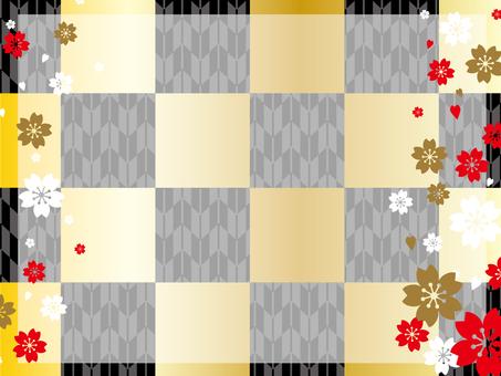 Japanese Pattern Background (Gold · Black)