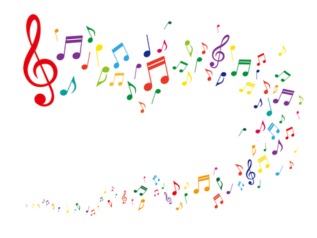 Musical note image illustration
