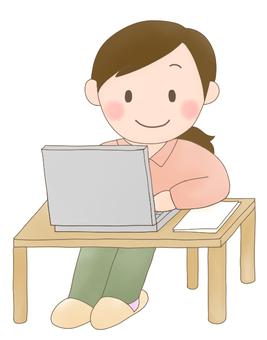 Desk work (female)