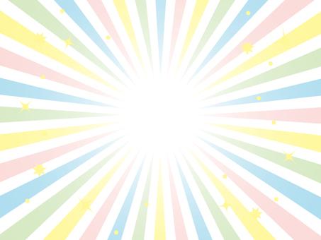 Radiation background pastel color