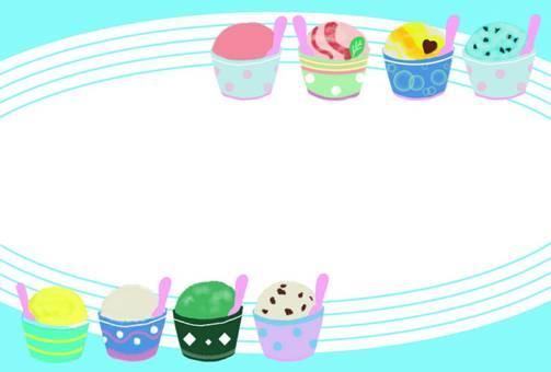 Ice cream frame assorted summer