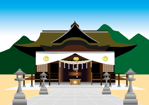 Shrines and mountains