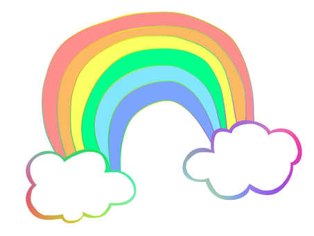 Watercolor Wind Rainbow 【Rainbow】 Cloud