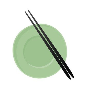 Dishes and chopsticks 1