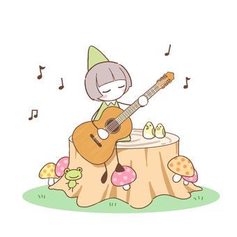 小人とギター