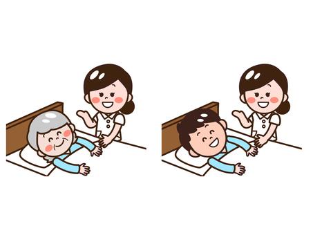 患者(老年人)和護士組