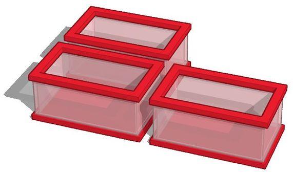 Translucent plastic container