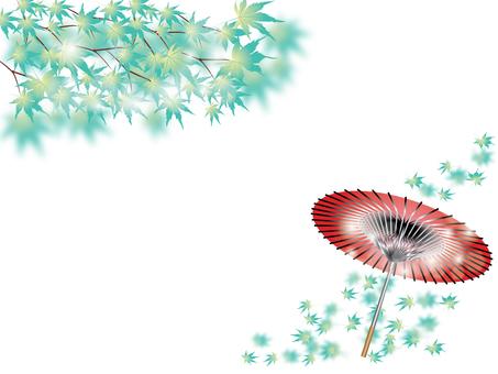 단풍 나무 _ 우산 M 카드 2