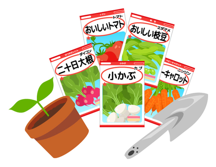 Grow vegetables from seeds