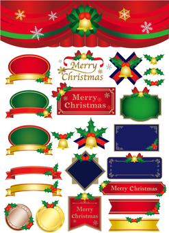 聖誕節框架材料收集