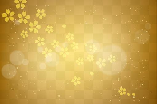 반짝이 배경 골드 벚꽃