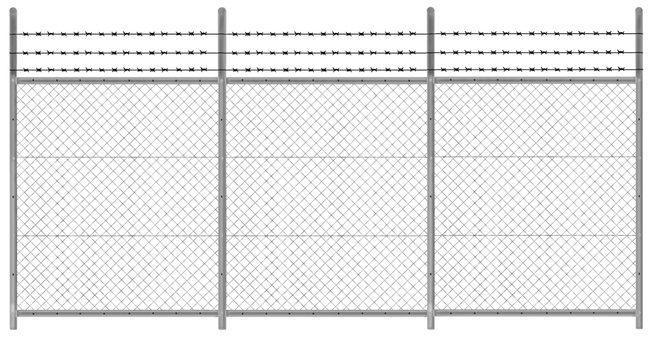 Fence with wire bar web 2