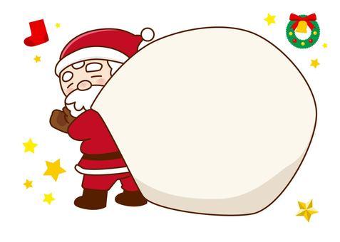 Santa in a big bag