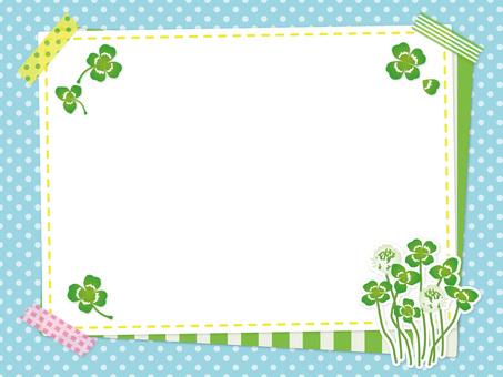 Spring clover and white clover frame 01