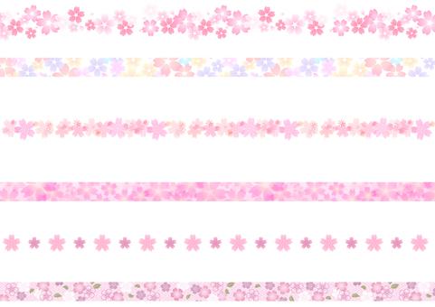 Cherry blossom material 79
