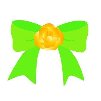 Yellow rose ribbon