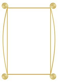 Gold spiral frame